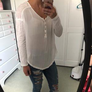 Free people long sleeve lightweight shirt